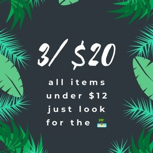 3/$20 SALE!! Just look for the 🏝